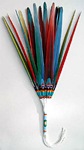 18 Center Macaw Tail Feathers Drop Fan