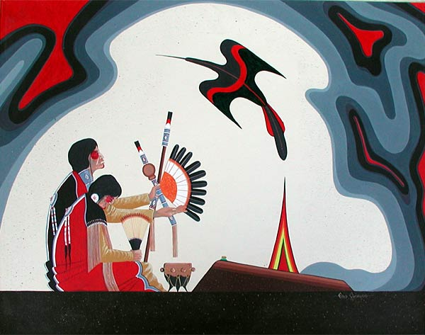 Fred Cleveland - Peyote Ceremony painting