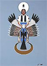 "Kiowa artist, Robert Redbird ""Morning Water"" peyote painting"