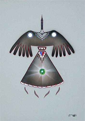 Robert Redbird Paintings for Sale http://nac-art.com/Redbird-Tipi.htm