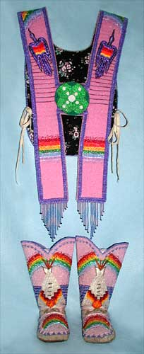 Beaded Regalia with Native American Church Designs